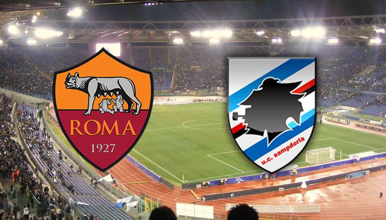 roma sampdoria streaming