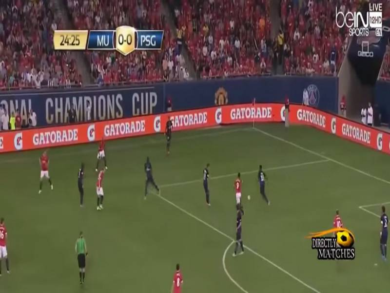 manchester united psg 0 2 video gol e sintesi international champions cup 30 07 2015. Black Bedroom Furniture Sets. Home Design Ideas