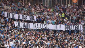 LAZIO, Striscione e lettara a Totti